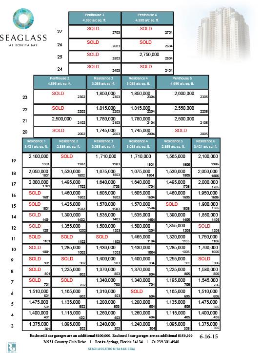 Seaglass Price Sheet 6-16-15 X-1