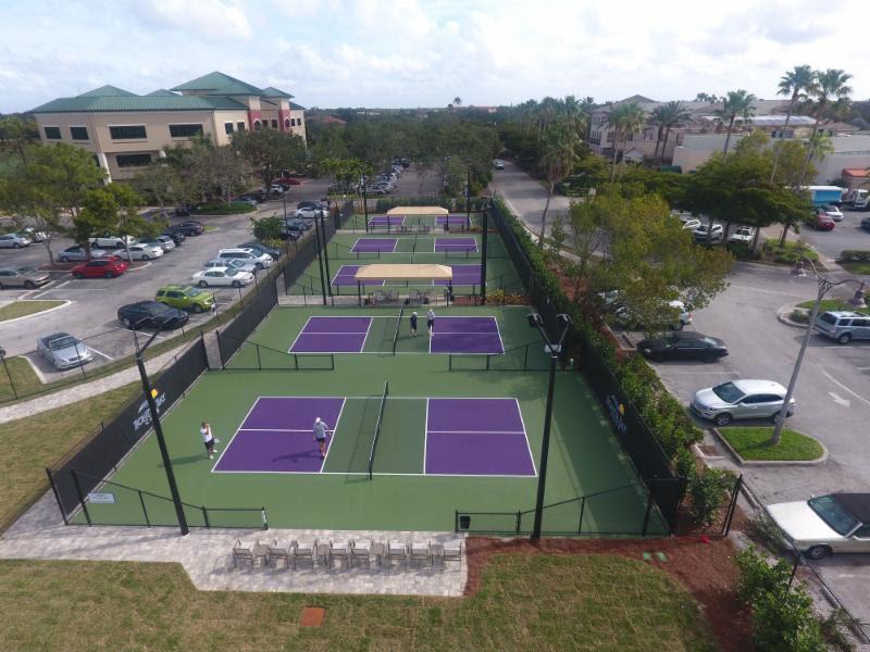 Bonita Bay Club's New Pickleball Courts.