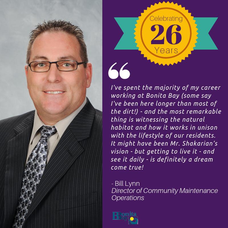 Congratulations to Bill Lynn - 26 Years!